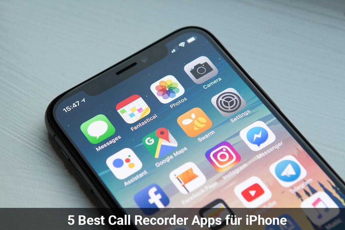 Best 5 Call Recorder Apps für iPhone