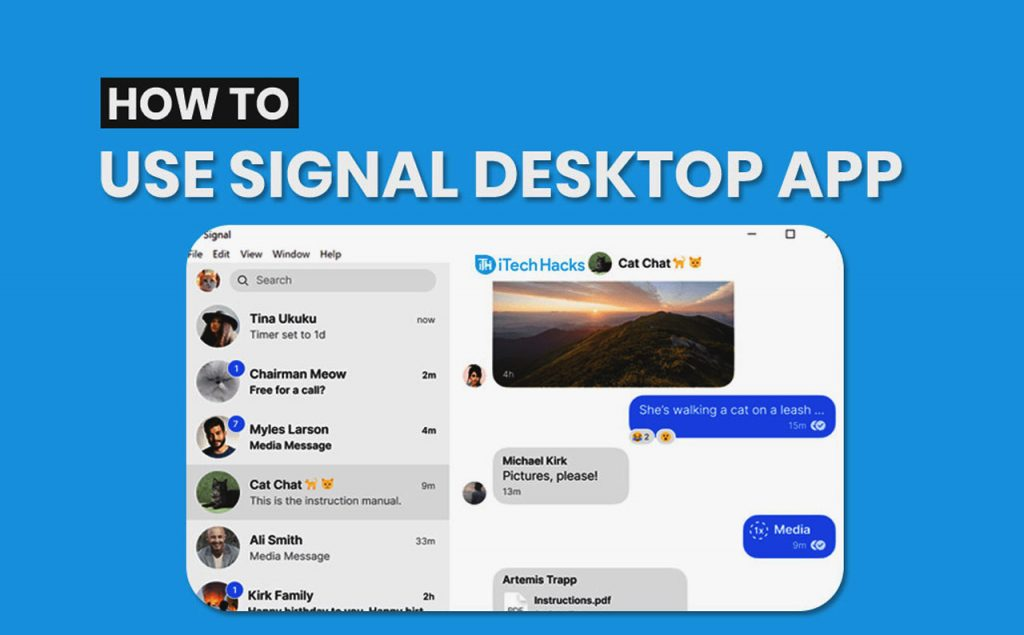 Signal Desktop App für MacOS