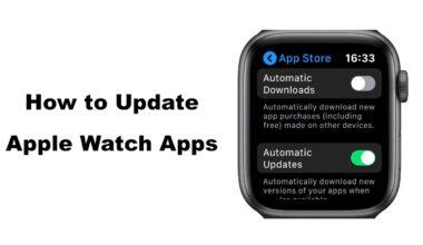 Update Apple Watch Apps