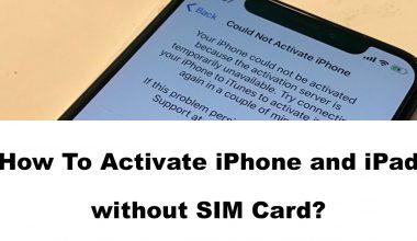 aktiviere iPhone und iPad ohne SIM-Karte