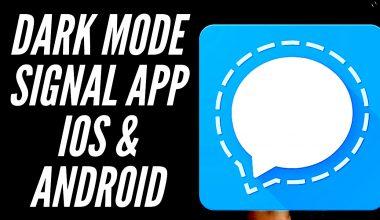 aktivieren Sie Dunkelmodus in Signal-App