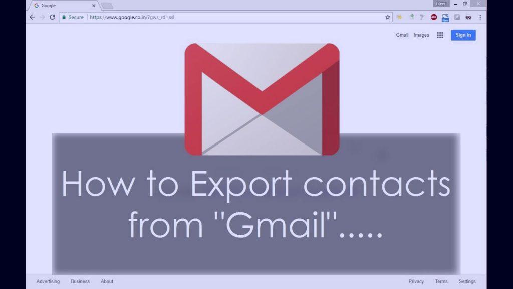 exportieren Sie Kontakte in Gmail